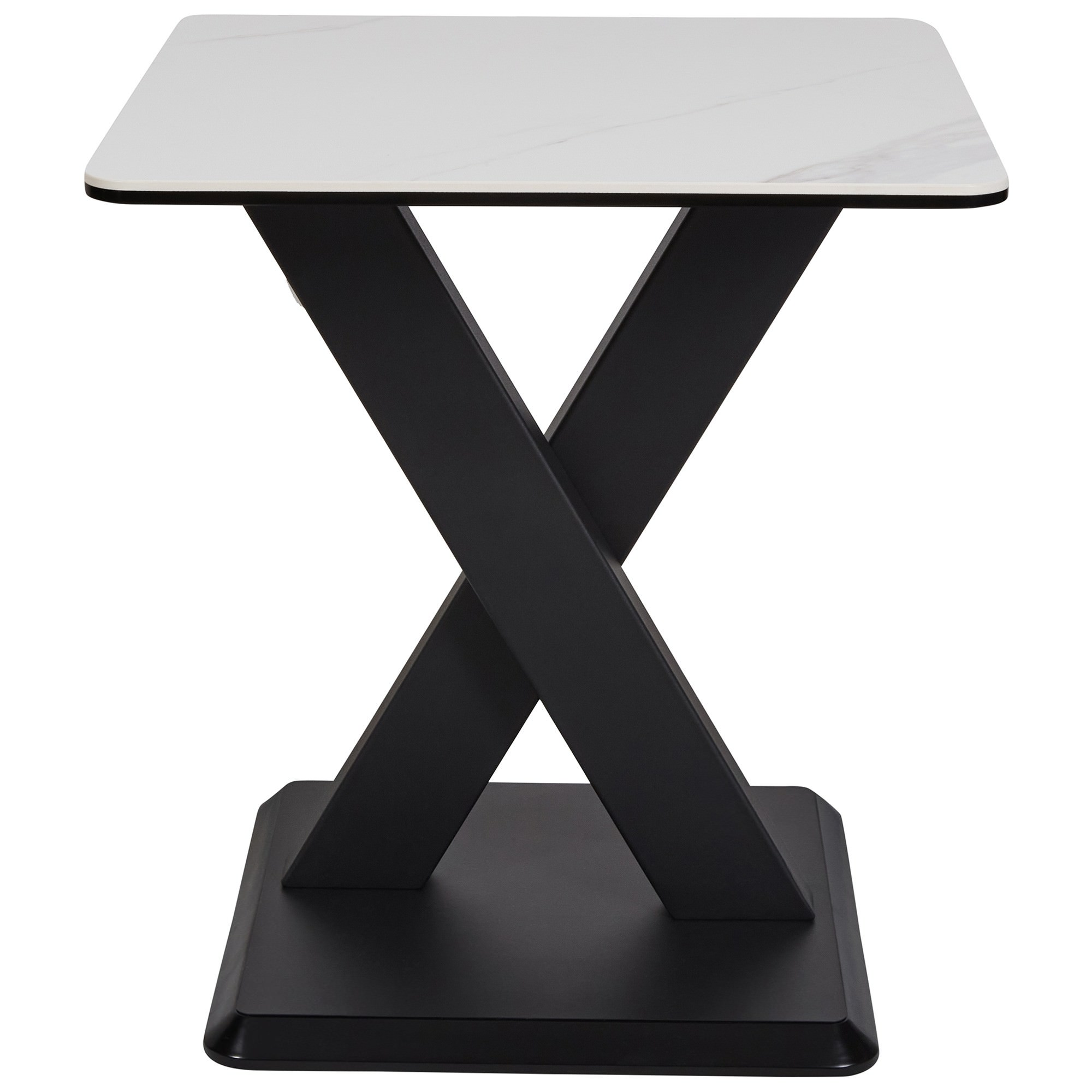Cabot Ceramic Topped Metal Side Table