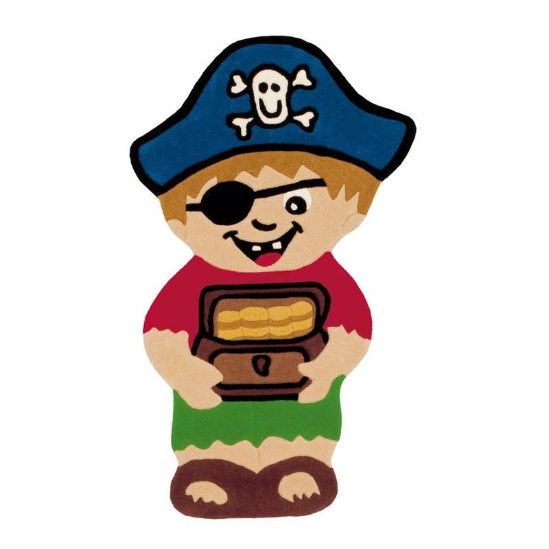 Arte Espina Pirate and Treasure Shaped Hand Tufted Kids Rug, 120x72cm