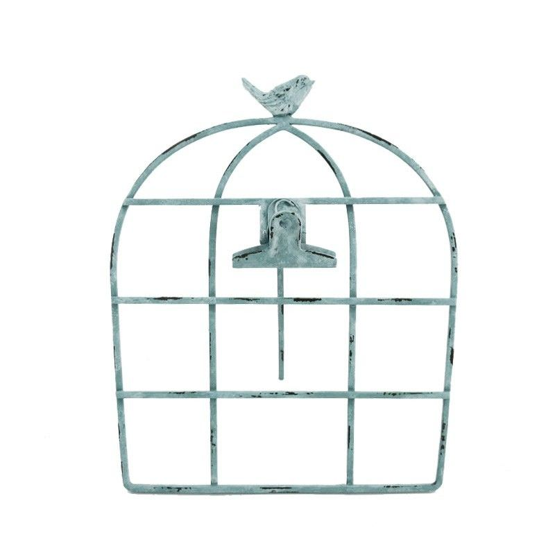 Bird & Cage Metal Memo Holder