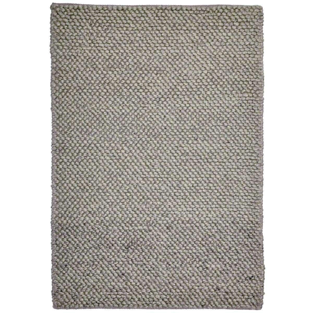 Aspen Handwoven Wool Rug, 290x200cm, Metal