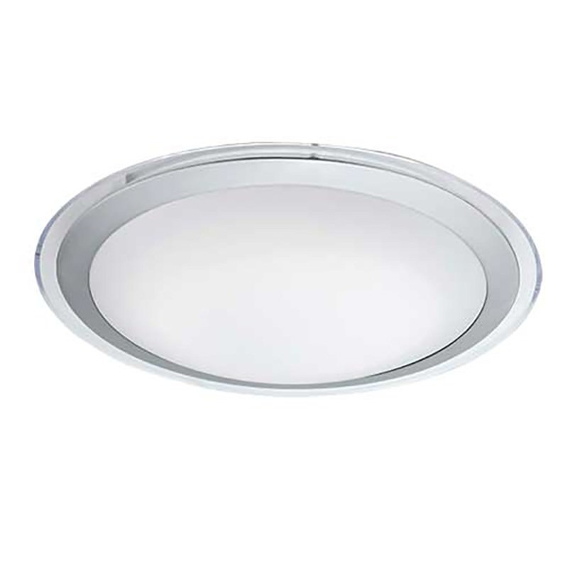 Astrid LED Oyster Ceiling Light, Small, Silver