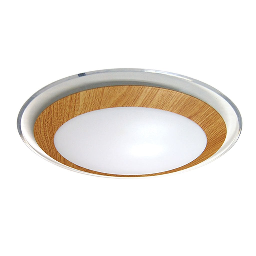 Astrid LED Oyster Ceiling Light, Large, Oak
