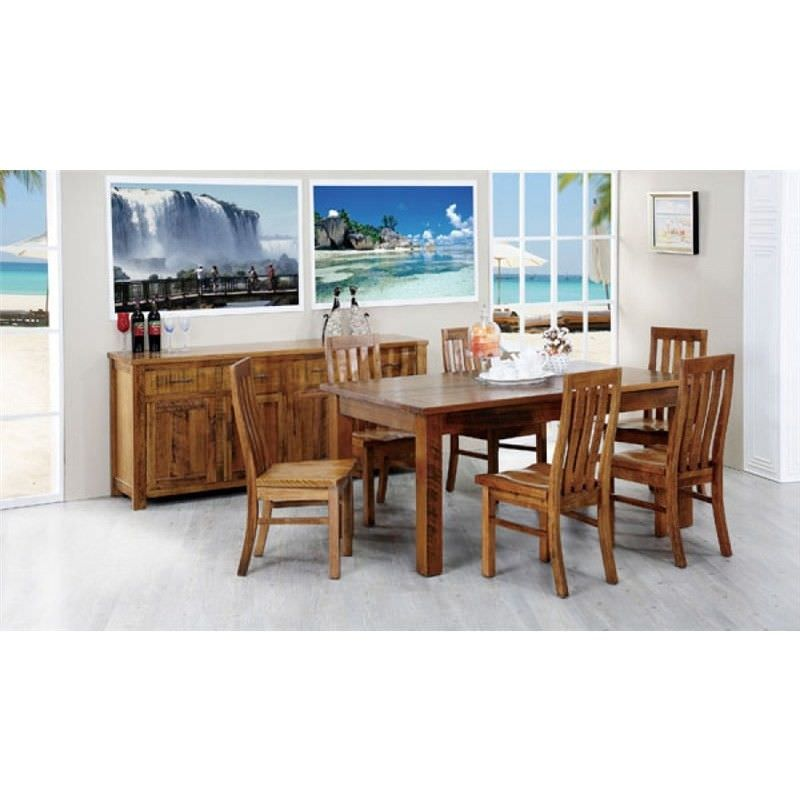 Altamura Solid Tasmanian Oak Timber 210cm Dining Table (Table Only)