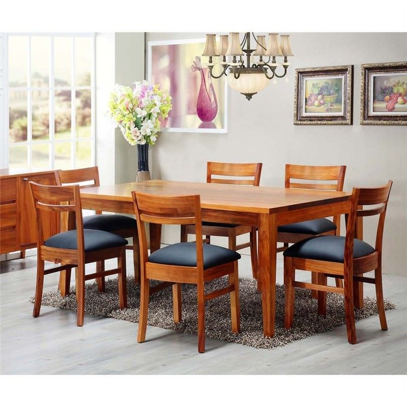 Casarano Solid Blackwood Timber 180cm Dining Table (Table Only)