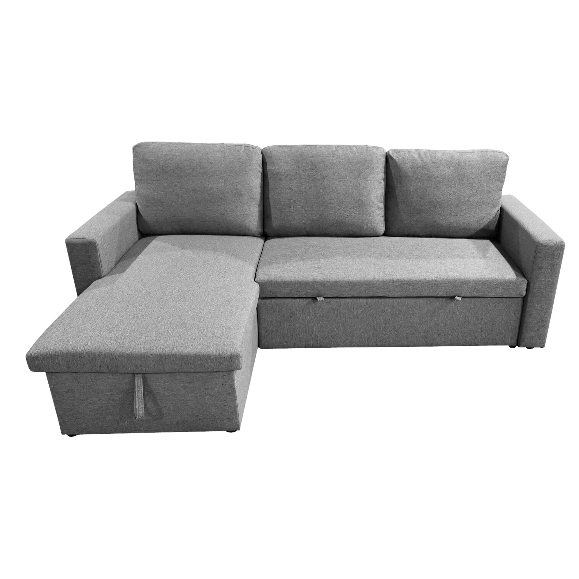 Picture of: Miera Fabric Reversable Corner Sofa Bed 2 Seater