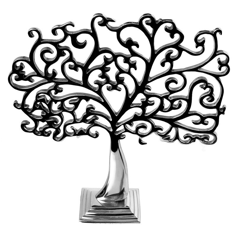 Aluminium Jewellery Tree Polished
