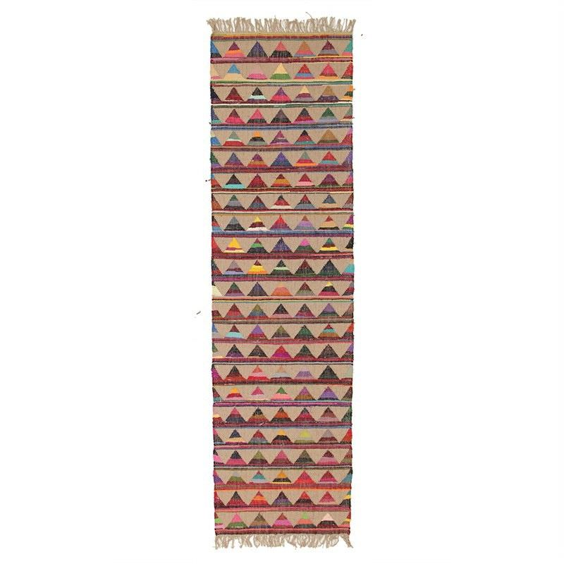 Marlo Hand Woven Jute and Cotton Indoor/Outdoor Runner Rug - 400x80cm