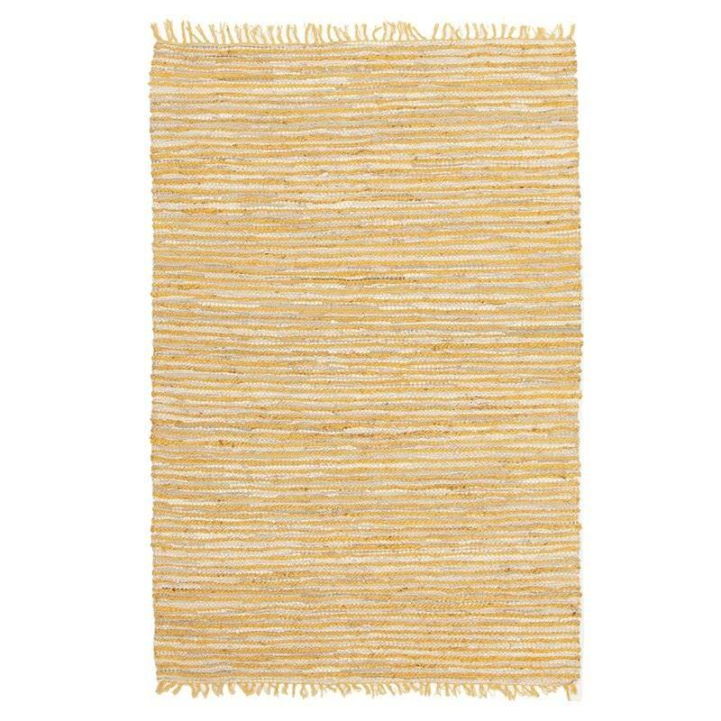 Bondi Leather & Jute Indoor/Outdoor Rug in Yellow - 270x180cm