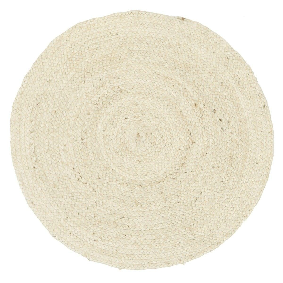 Atrium Polo Round Jute Rug, 240cm, Cream