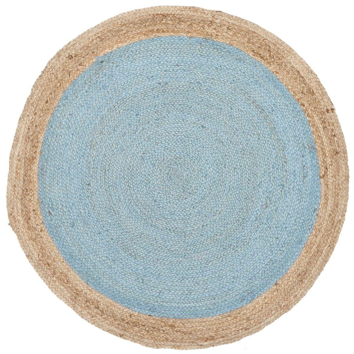 Atrium Polo Round Jute Rug, 200cm, Blue