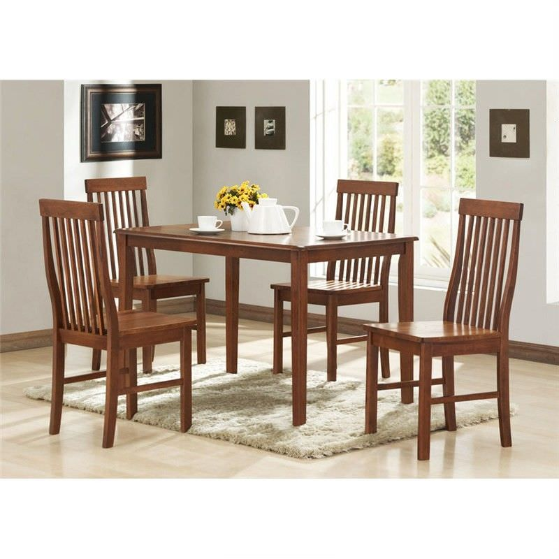 Norma 5 Piece Solid Oak Timber Dining Set