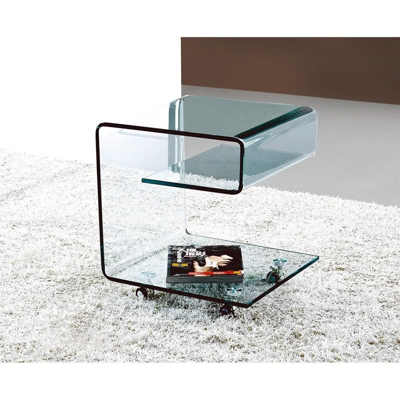 Camboni Tempered Glass Side Table