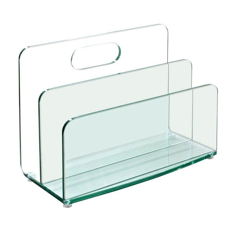 Cecil Glass Magazine Stand
