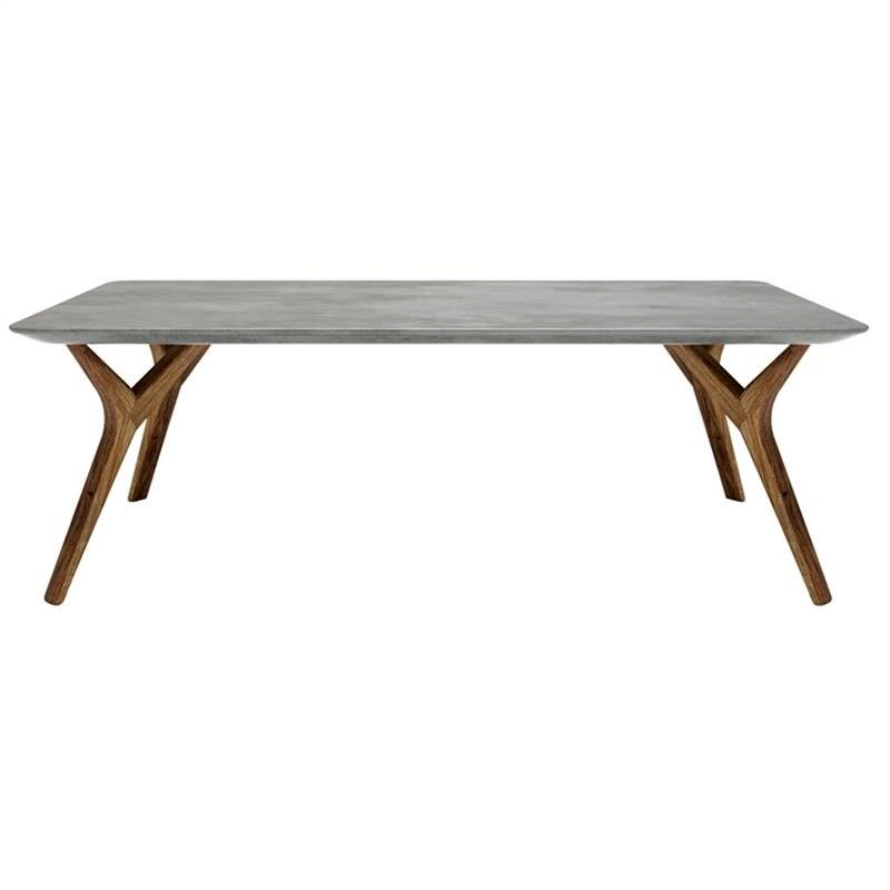 The Dane Cement Top Solid Oak Timber 120cm Coffee Table