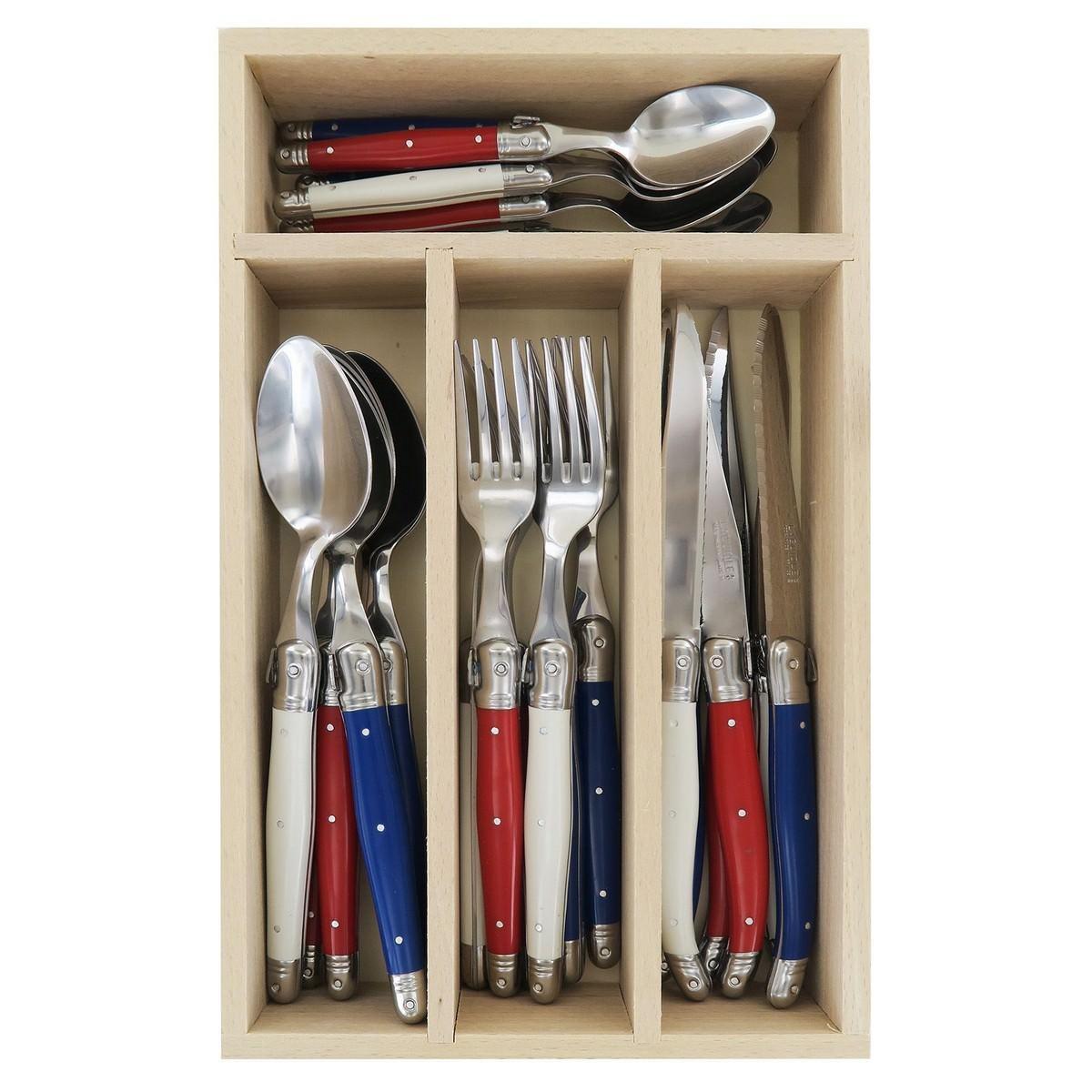 Andre Verdier Debutant Cutlery Set, 24 Piece, Francais