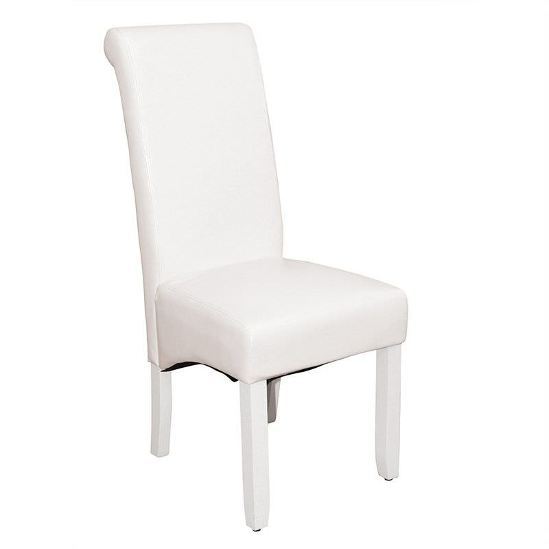 Averil PU Upholstered Dining Chair - White