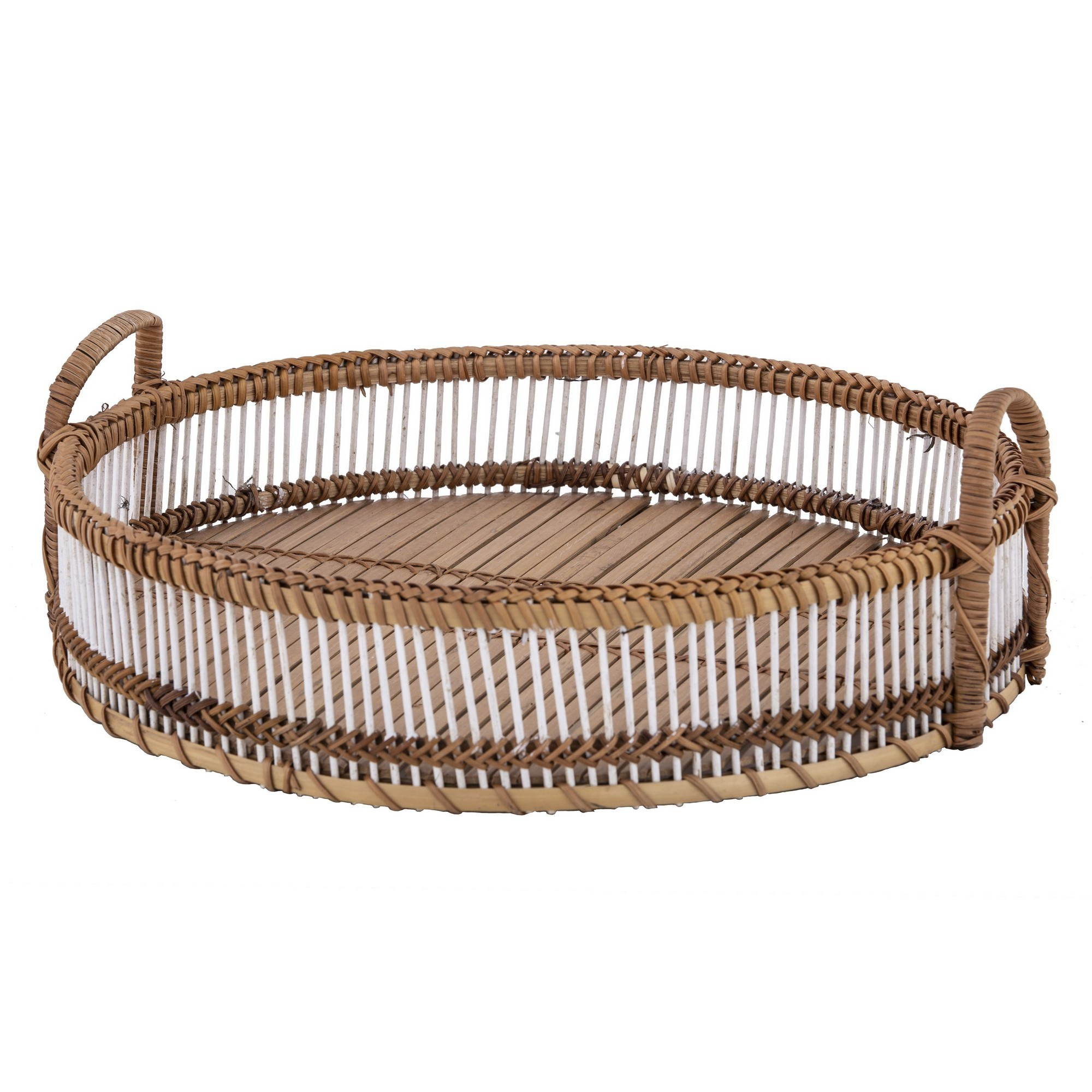 Canyon Bamboo Rattan Round Tray