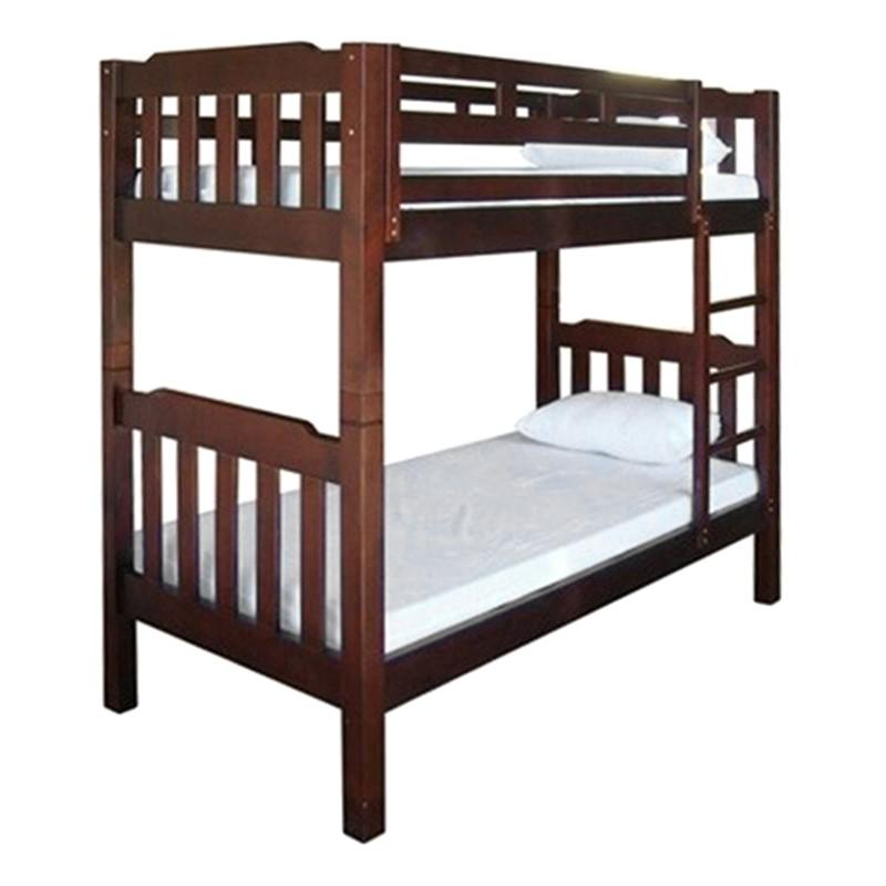 Adelaide Timber King Single Bunk Bed In Walnut