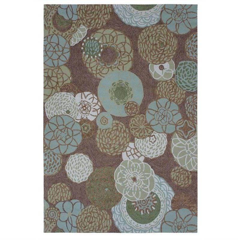 Anywhere Floral Hand Tufted Indoor/Outdoor Rug, 240x340cm, Brown