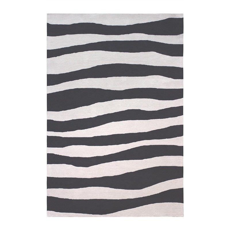 Anywhere Waves Hand Tufted Indoor/Outdoor Rug, 240x340cm, Charcoal