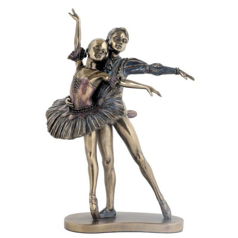 Cast Bronze Ballerina Figurine, Perfect Partner