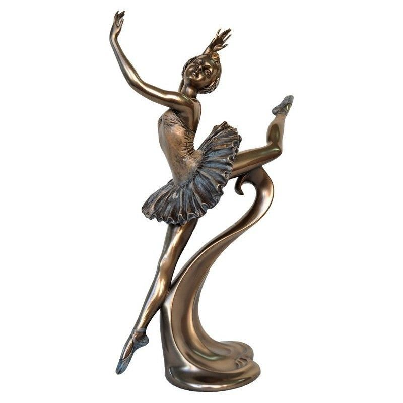 Cast Bronze Ballerina Figurine, Grand Jete