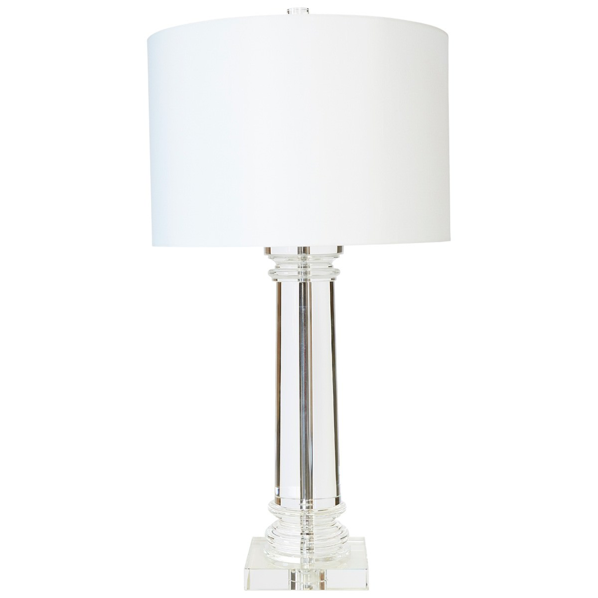 Venetian Crystal Column Base Table Lamp