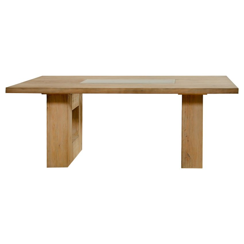 Pesaro Mountain Ash Timber Dining Table, 200cm