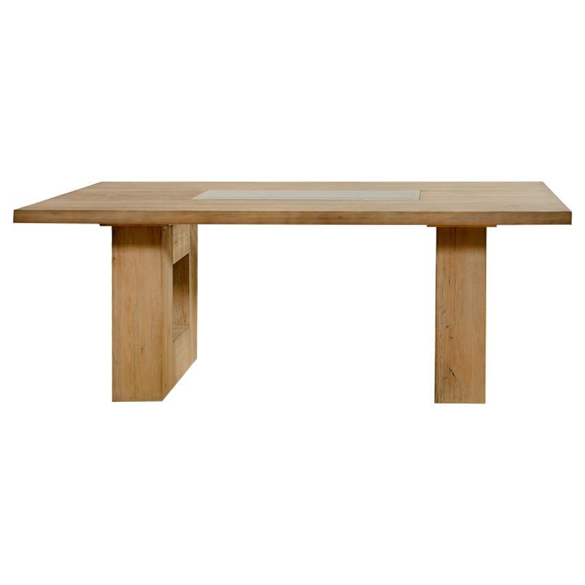 Pesaro Mountain Ash Timber Dining Table, 240cm