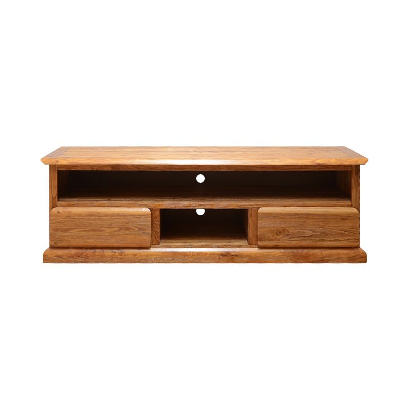 Amold Mountain Ash Timber 2 Drawer TV Unit, 183cm