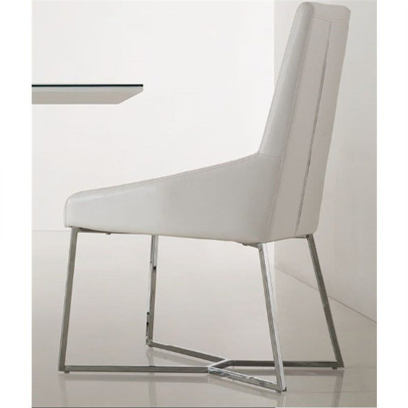 Dawn White PU Leather Dining Chair