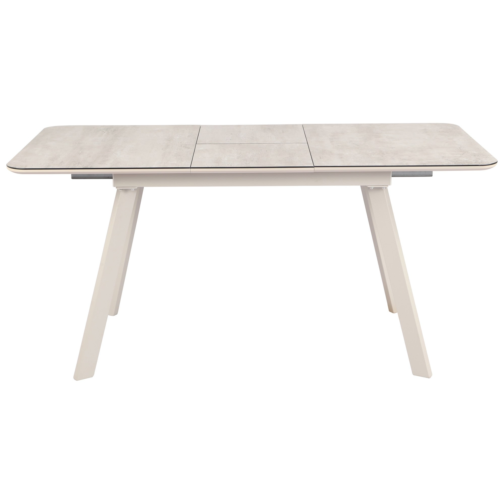 Balea Glass Top Extendable Dining Table, 140-180cm, Taupe Agate