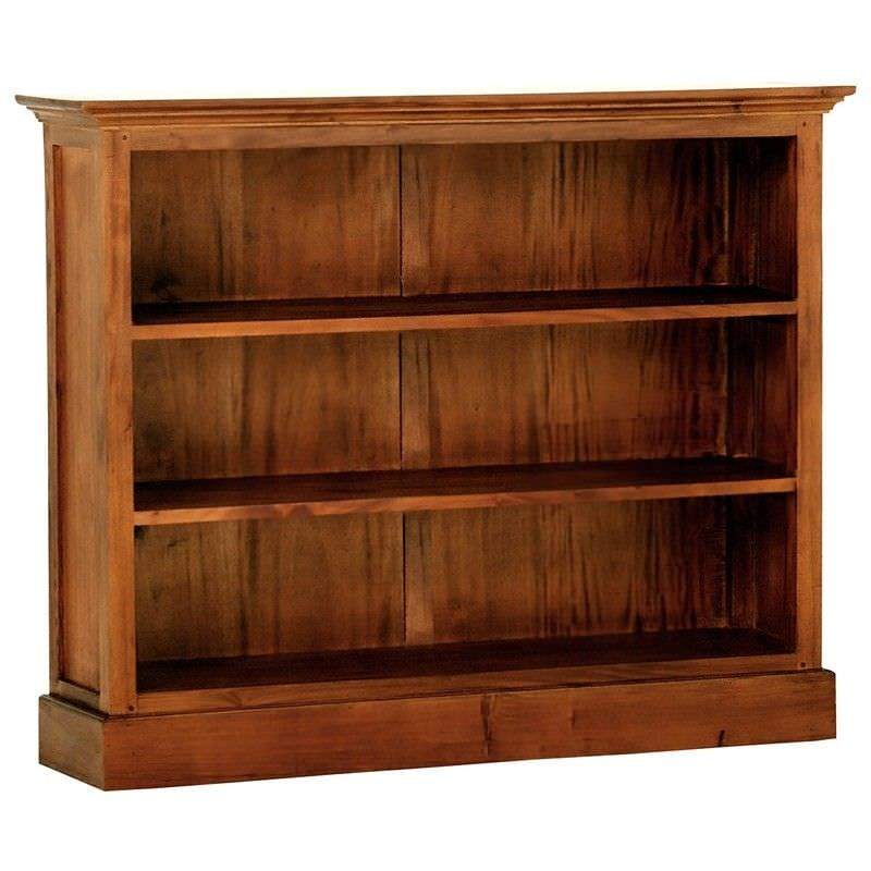Adolf Solid Mahogany Timber Double Shelf Low Bookcase