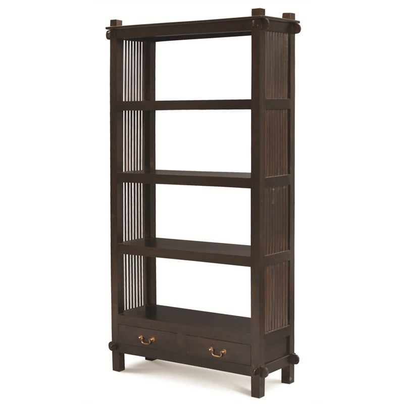 Solid Mahogany Timber Display Shelf / Room Divider, Chocolate