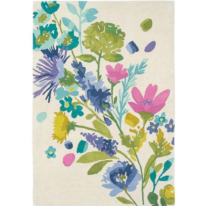 Bluebellgray Tetbury Meadow Designer Wool Rug, 240x170cm