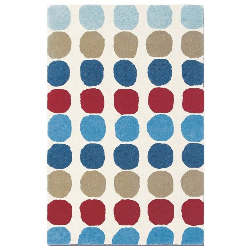 Harlequin Abacus Hand Tufted Designer Wool Rug, 180x120cm, Primary