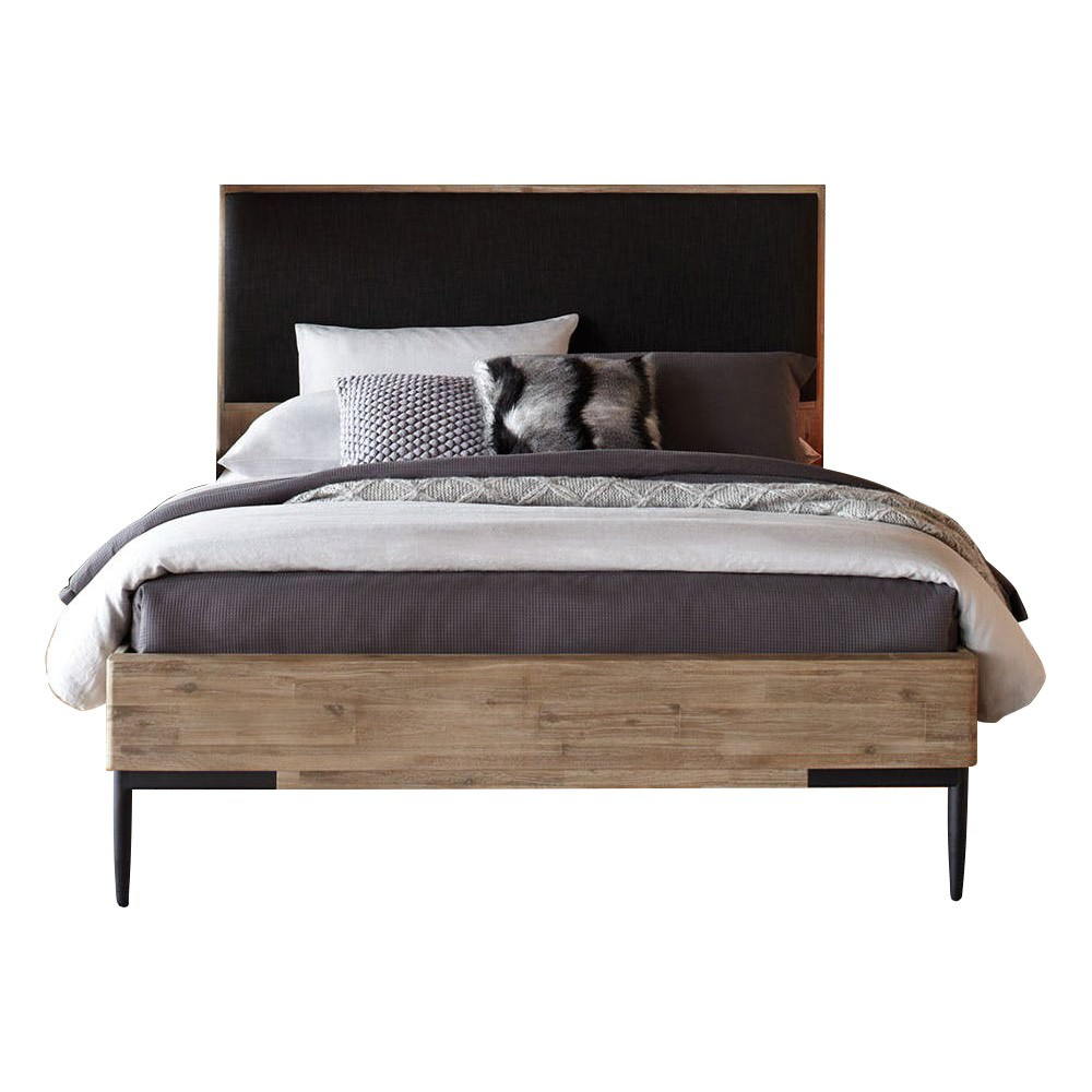 Augusta Acacia Timber & Fabric Bed, Queen