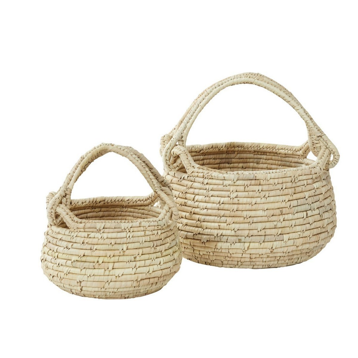 Bolla 2 Piece Handwoven Kans Grass & Date Leaf Bowl Set