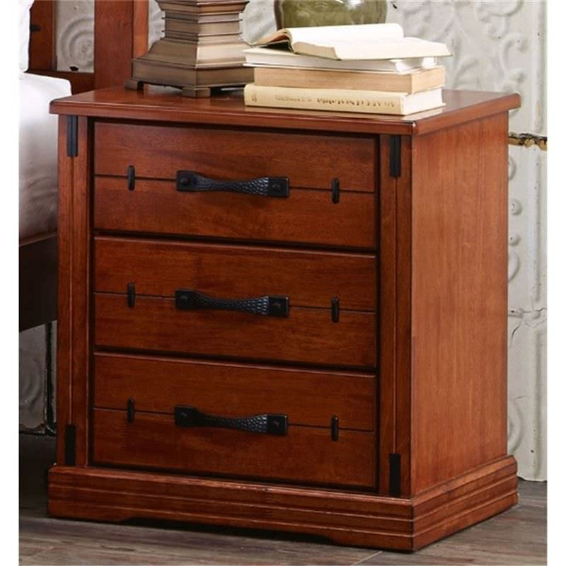 Dario Solid Hardwood Timber Bedside Table