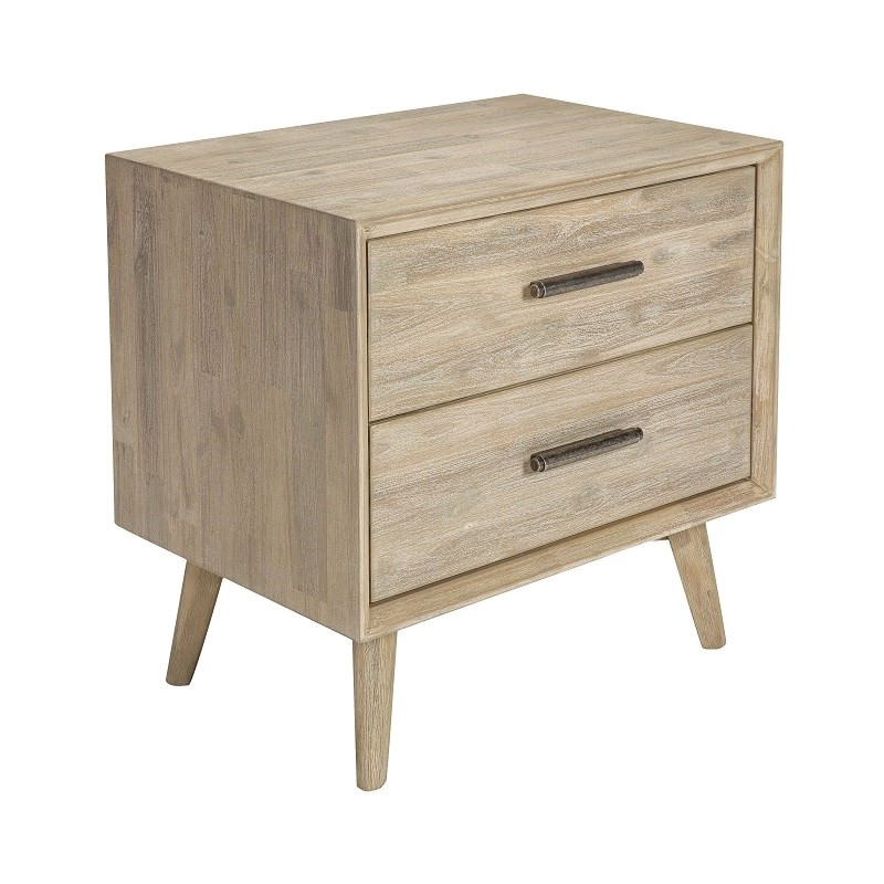 Cambrie II Acacia Timber Bedside Table