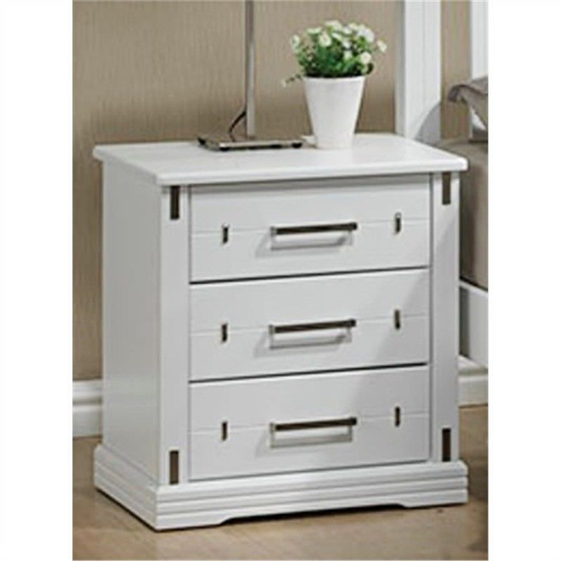 Taya Solid Hardwood Timber 3 Drawer Bedside Table