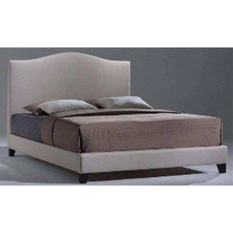Derria Fabric Queen Bed - Light Beige