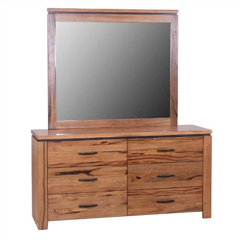 Tintern Solid Marri Timber Dressing Table with Mirror
