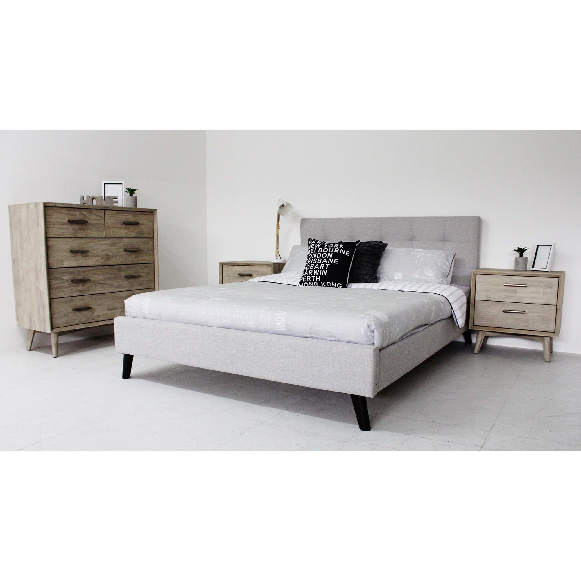 Garrison & Cambrie II 4 Piece Bedroom Tallboy Suite, Queen