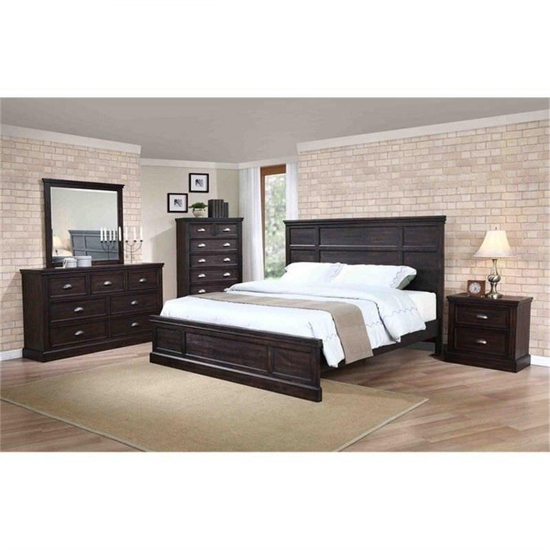 Maydena Solid Rubberwood Timber 4 Piece Bedroom Tallboy