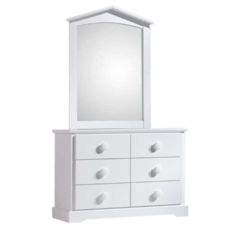 Marion Wooden Dressing Table With Mirror