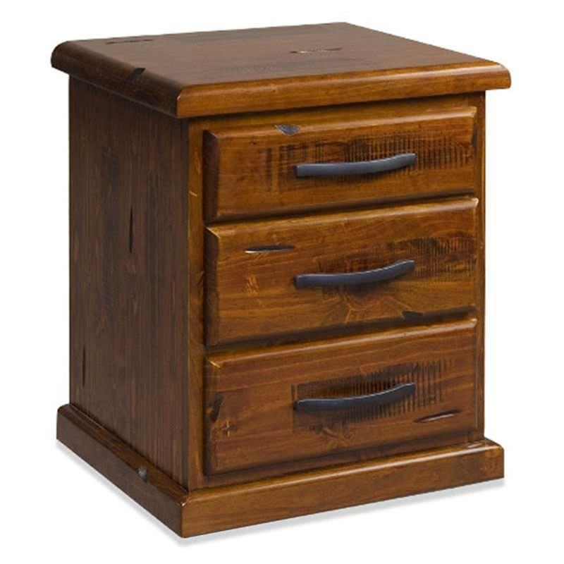 Embleton Solid Pine Timber Bedside Table