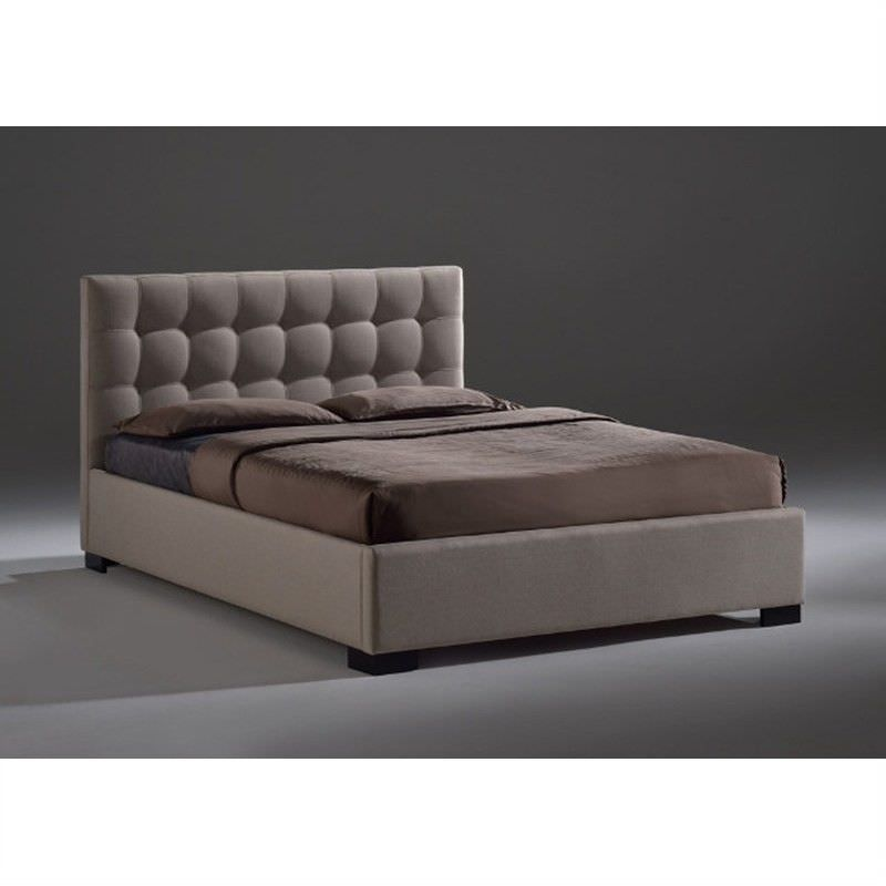 Astoria Fabric Bed, Double, Light Beige