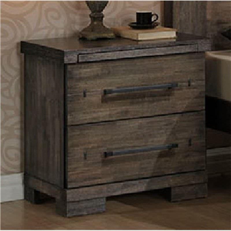 Tyesha Solid Hardwood Timber Bedside Table