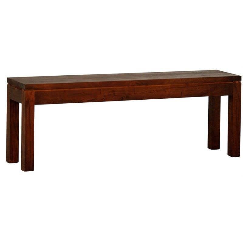 Amsterdam Mahogany Timber Dining Bench, 120cm, Mahogany